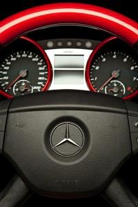 Custom Mercedes-Benz M63 Crimson Fiber Interior